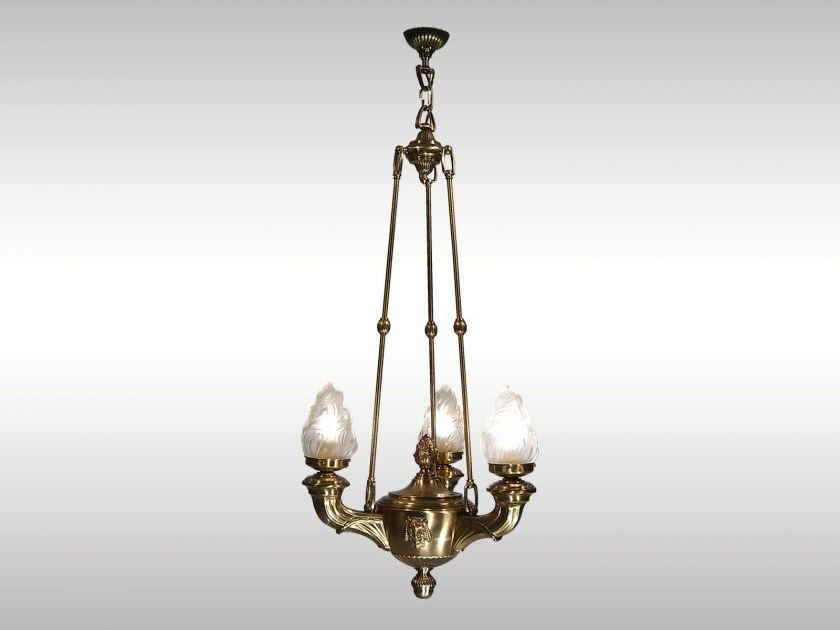 Classic style brass chandelier VERSACE by Woka Lamps Vienna