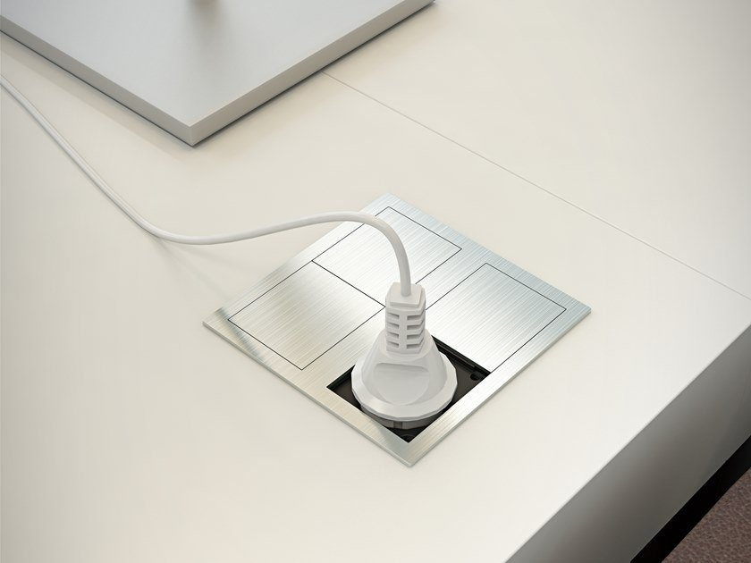 Concealed module with independent sockets VERSAHIT DUAL by ASA PLASTICI