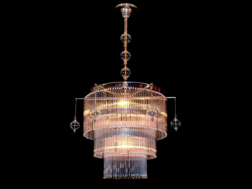 Direct light handmade brass chandelier VERSAILLES I | Pendant lamp by Patinas Lighting