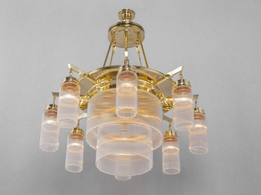 Direct light handmade brass chandelier VERSAILLES I | Chandelier by Patinas Lighting