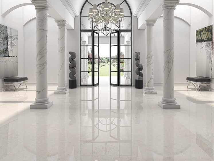 Porcelain wall/floor tiles with marble effect VERSAILLES by ITT Ceramic