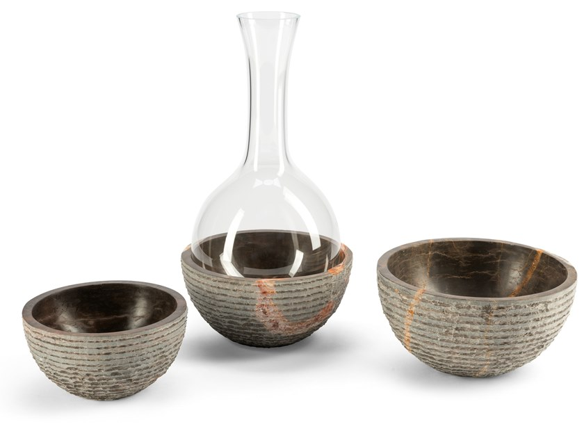 Marble serving bowl / decanter VERSANTE by Visionnaire