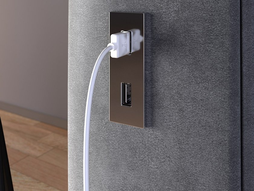 Concealed electrical outlet with USB VERSAPICK by ASA PLASTICI