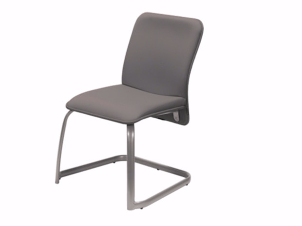 Cantilever upholstered chair VERSO   Cantilever chair by NARBUTAS
