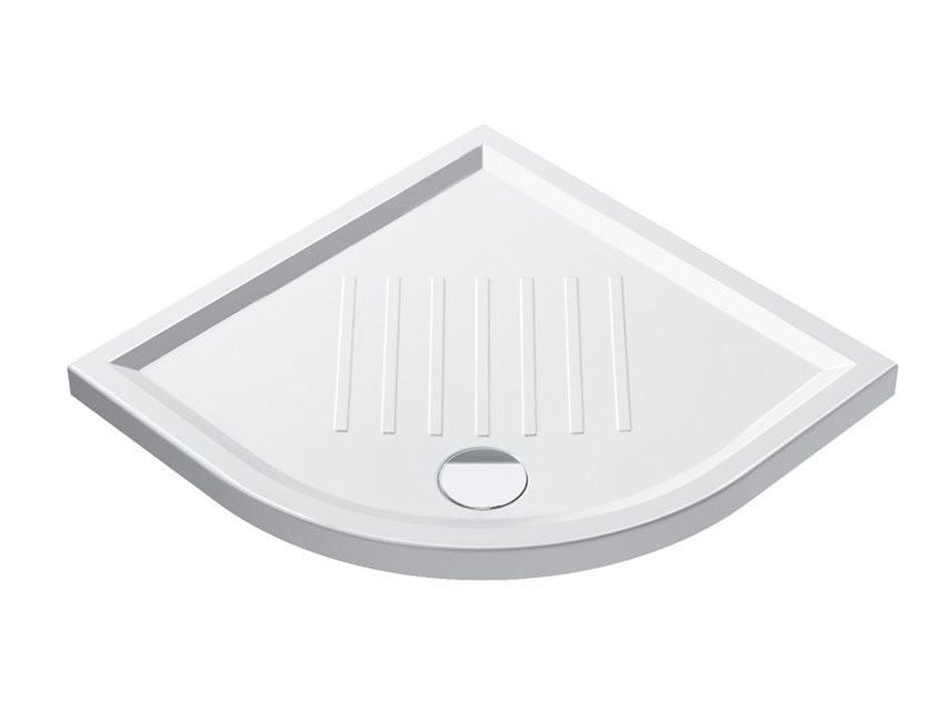 Receveur de douche d'angle anti-glisse VERSO | Receveur de douche d'angle by CERAMICA CATALANO