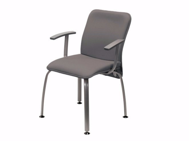 Upholstered training chair with armrests VERSO | Upholstered chair by NARBUTAS