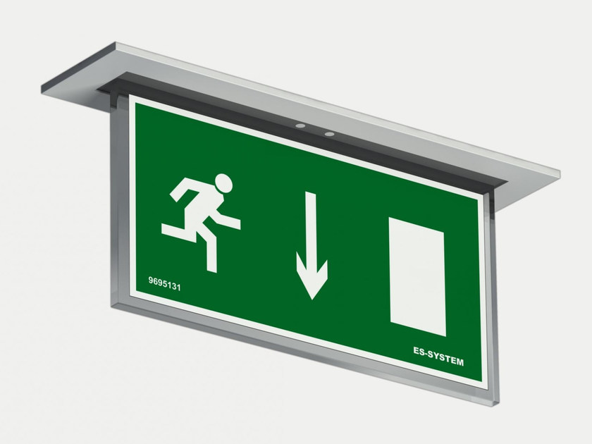 LED ceiling-mounted emergency light VERSO VSD   Emergency light for signage by ES-SYSTEM