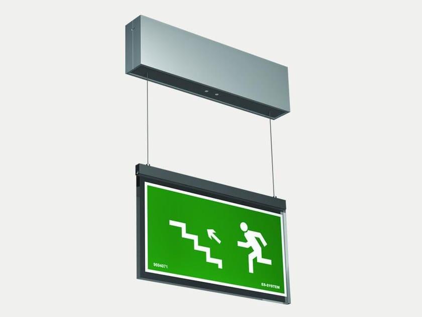 LED suspended emergency light VERSO VSZ | Emergency light for signage by ES-SYSTEM