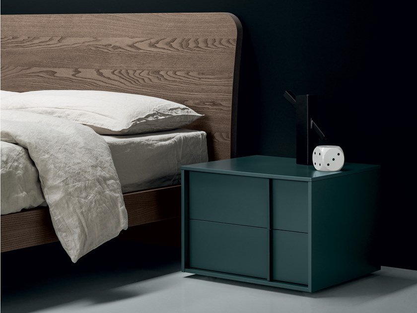 Lacquered bedside table with drawers VERTEX   Bedside table by Md House