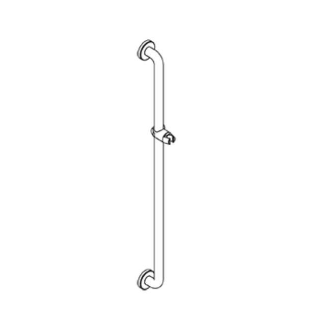 Fixed vertical grab bar Shower Rail with wall fixing by Ropox