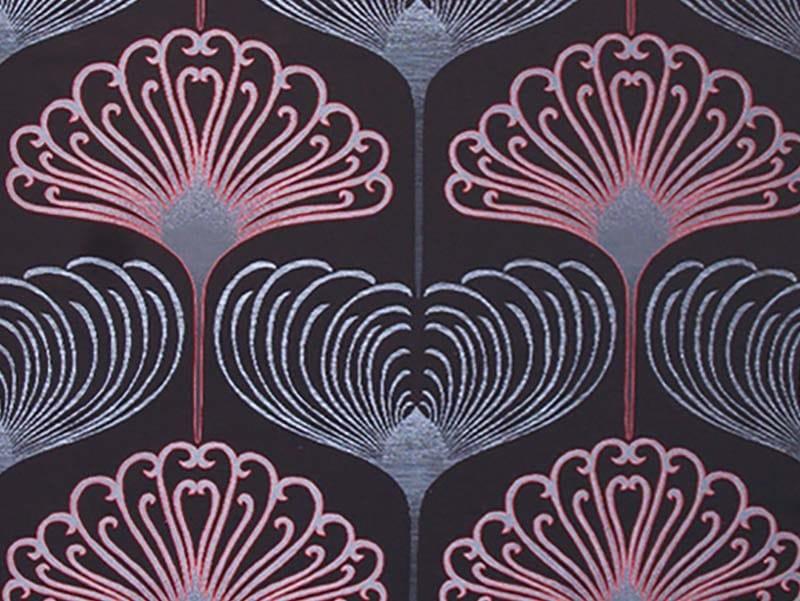 Jacquard fabric with graphic pattern VERTIGO PAVONE by l'Opificio