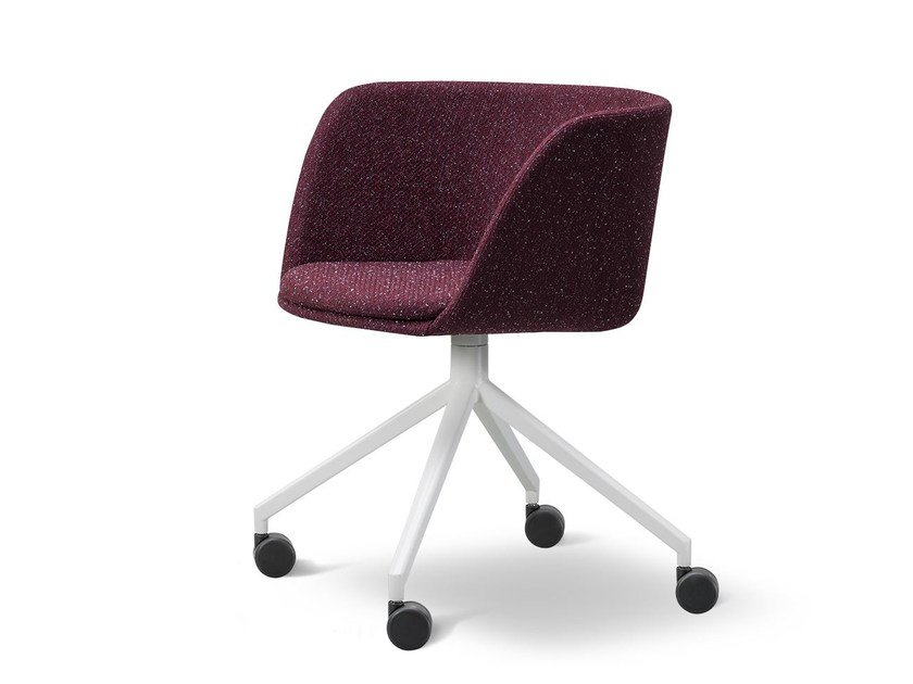 Fabric chair with 4-spoke base with casters VERVE | Fabric chair by FREDERICIA FURNITURE