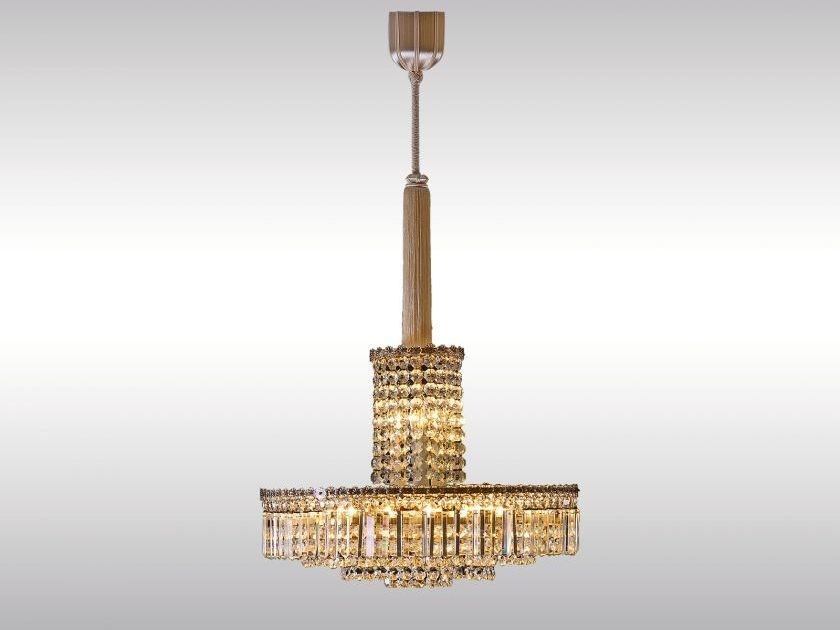 Classic style crystal pendant lamp VERY ELEGANT BAKALOWITS CHANDELIER by Woka Lamps Vienna