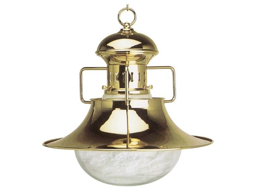 Direct-indirect light brass chandelier VESPUCCI 03/3002 | Brass chandelier by Caroti