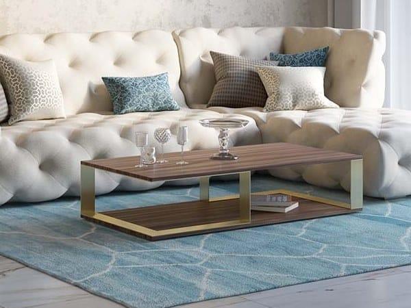 Rectangular walnut coffee table VESTA by Scandal
