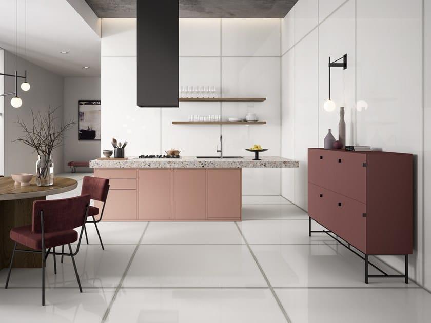 Glass effect porcelain stoneware flooring VETRI LUX by Ceramiche Refin