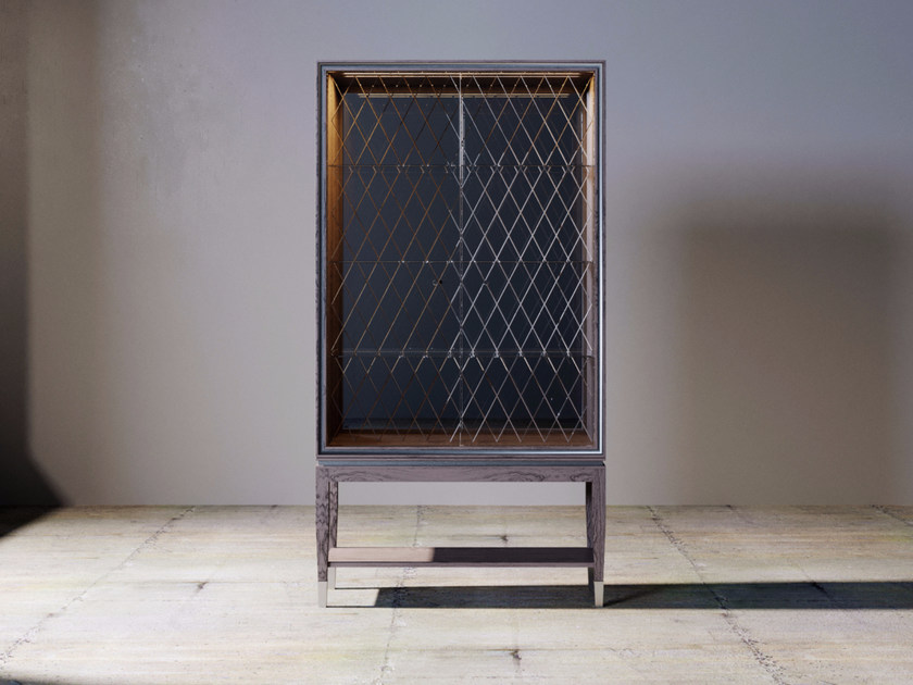 Wood And Glass Display Cabinet With Integrated Lighting SILVER LINE | Display  Cabinet By ITALIANELEMENTS