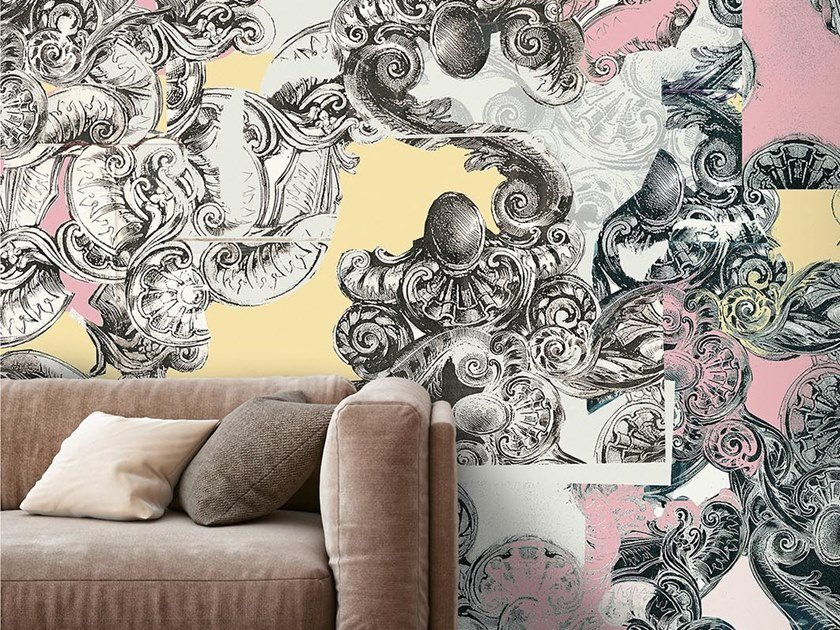 Industrial and modern wallpaper, PVC free, eco, washable VIA COL VENTO by Wallpepper
