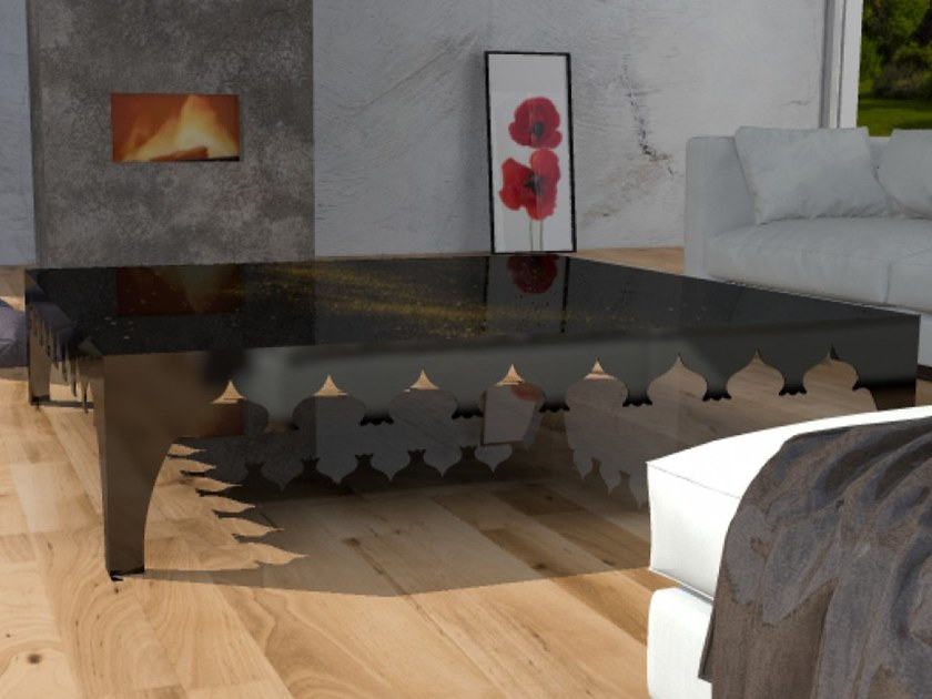 Tempered glass coffee table VIAGGIO VI by Unica by Tecnotelai