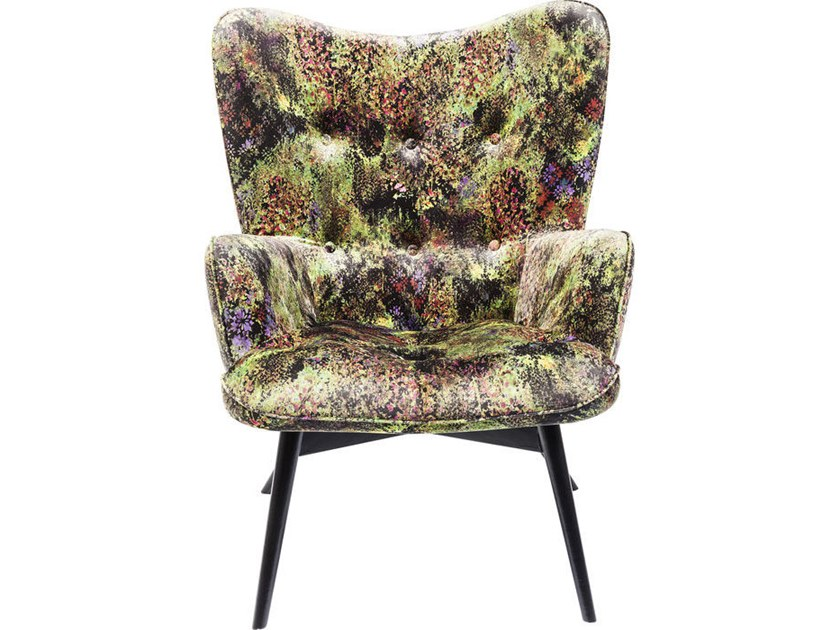 Polyester wingchair high-back VICKY DSCHUNGEL by KARE-DESIGN