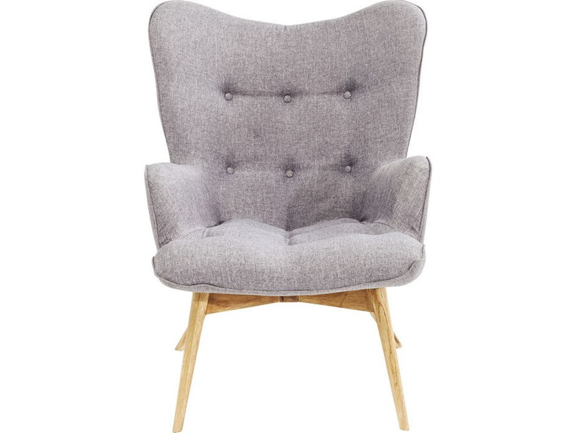 Polyester wingchair high-back VICKY by KARE-DESIGN