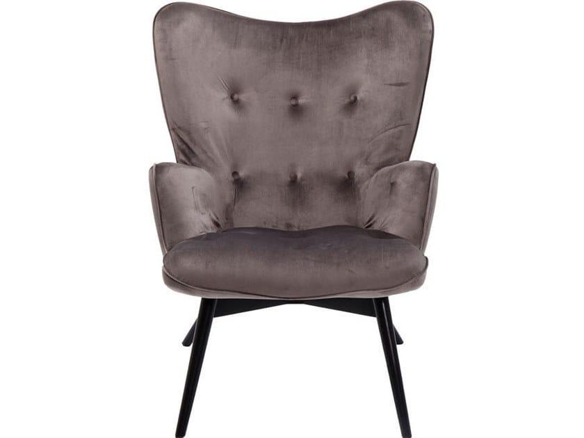 Polyester wingchair high-back VICKY VELVET by KARE-DESIGN