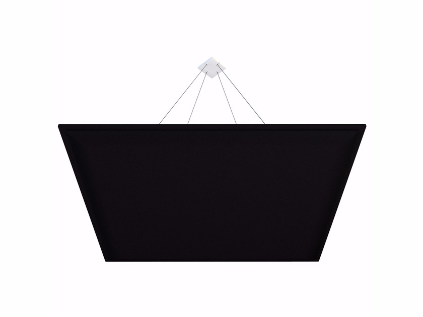 Plastic hanging acoustical panel ViCloud SQUARE by Vicoustic by Exhibo