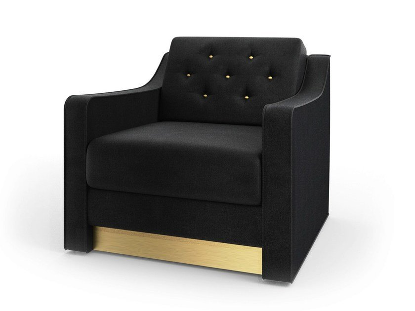 Tufted fabric armchair VICTOR | Armchair by MARIONI
