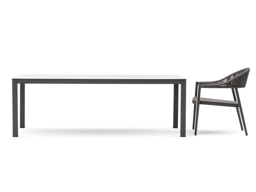 Rectangular HPL garden table VICTOR LOW | Table by Varaschin