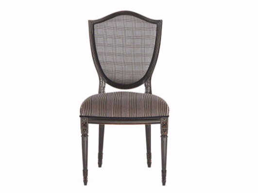 Upholstered lacquered velvet chair VICTORIA   Chair by Gianfranco Ferré
