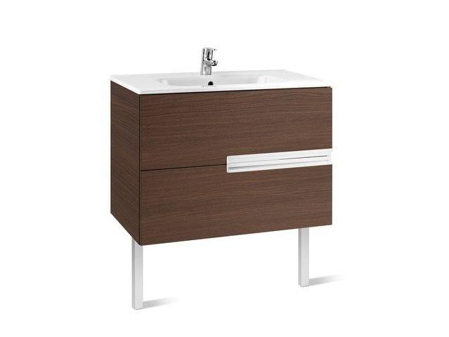 Single wooden vanity unit with drawers VICTORIA-N | Single vanity unit by ROCA SANITARIO
