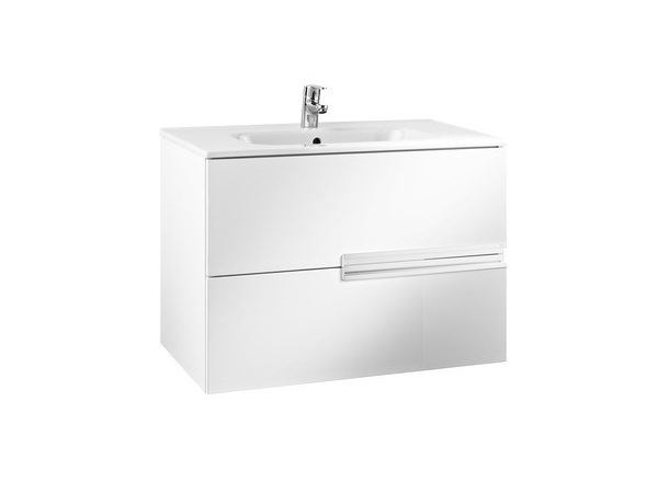 Single wooden vanity unit with drawers VICTORIA-N | Wall-mounted vanity unit by ROCA SANITARIO