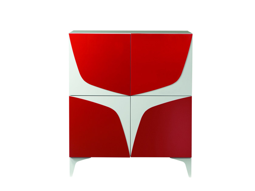Lacquered highboard with doors VICTORIA by ROCHE BOBOIS