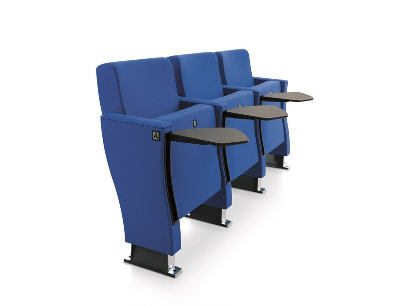 Fabric auditorium seats with writing tablet VICTORY 200 by Emmegi