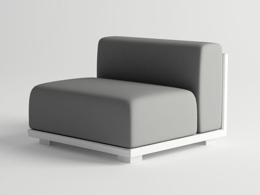 Aluminium garden armchair VICTUS MODULAR SOFA CENTER PIECE by 10Deka