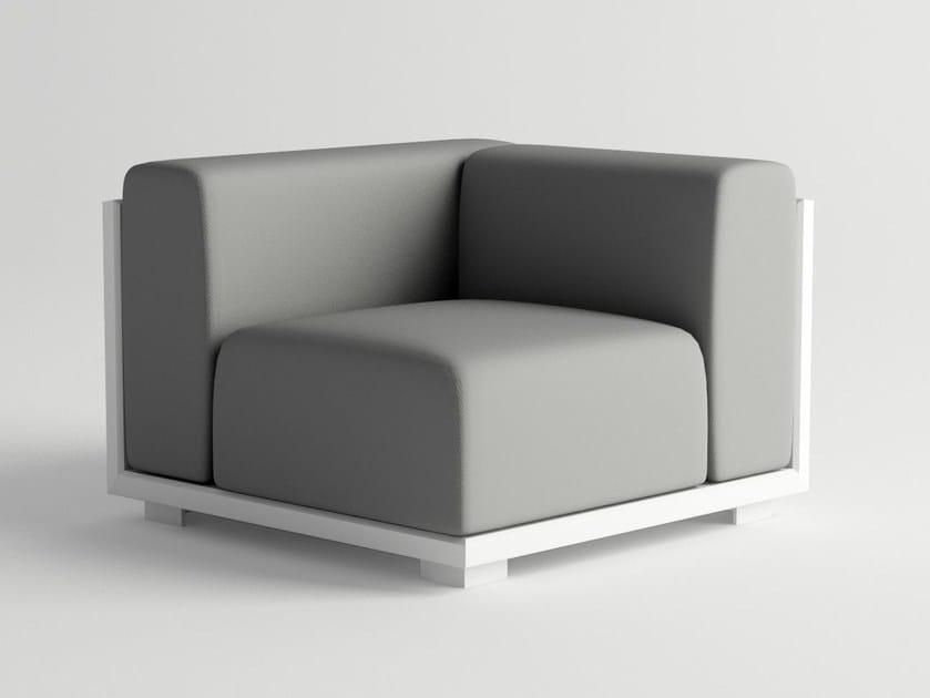 Corner garden armchair VICTUS MODULAR SOFA CORNER by 10Deka