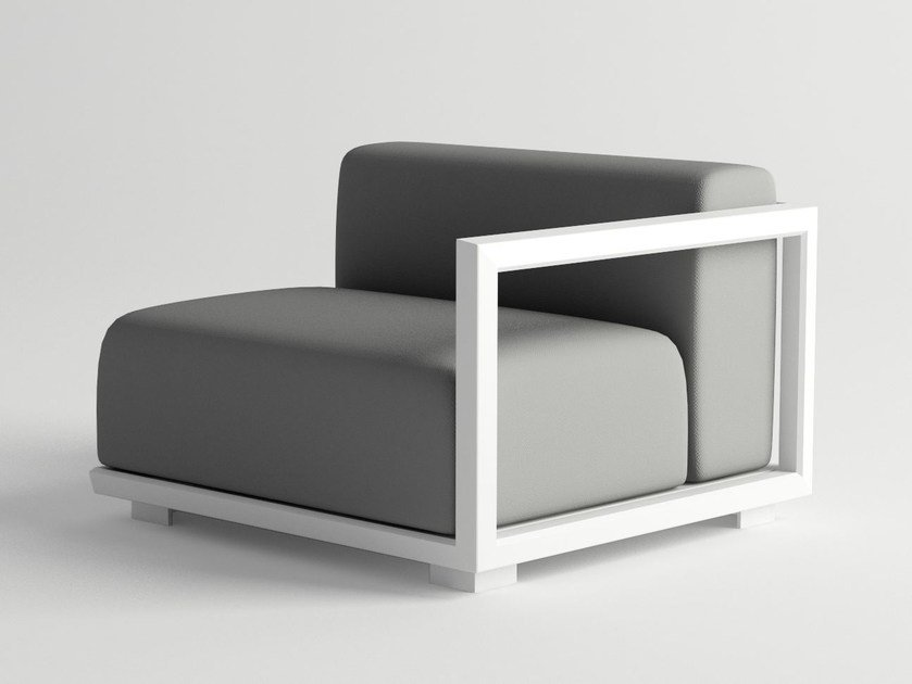 Aluminium garden armchair VICTUS MODULAR SOFA LEFT ARMREST by 10Deka