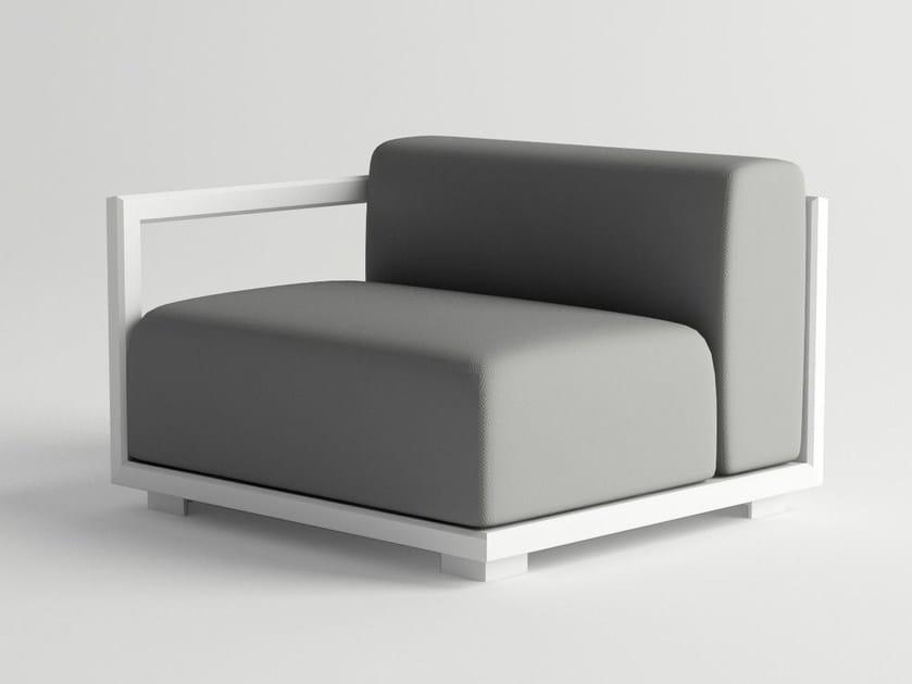 Aluminium garden armchair VICTUS MODULAR SOFA RIGHT ARMREST by 10Deka