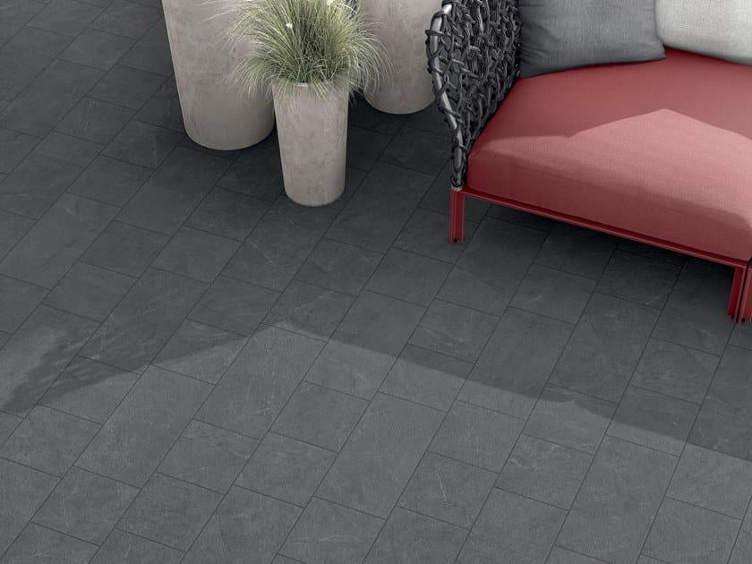 Porcelain stoneware outdoor floor tiles with stone effect VIE DELLA PIETRA GALASSIA by Marca Corona