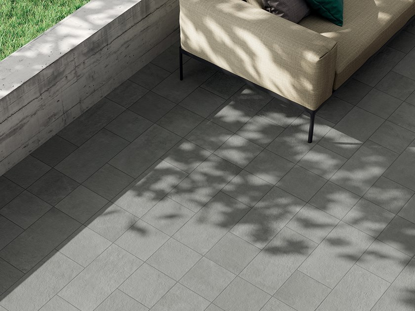 Porcelain stoneware outdoor floor tiles with stone effect VIE DELLA PIETRA ORIENTE by Marca Corona