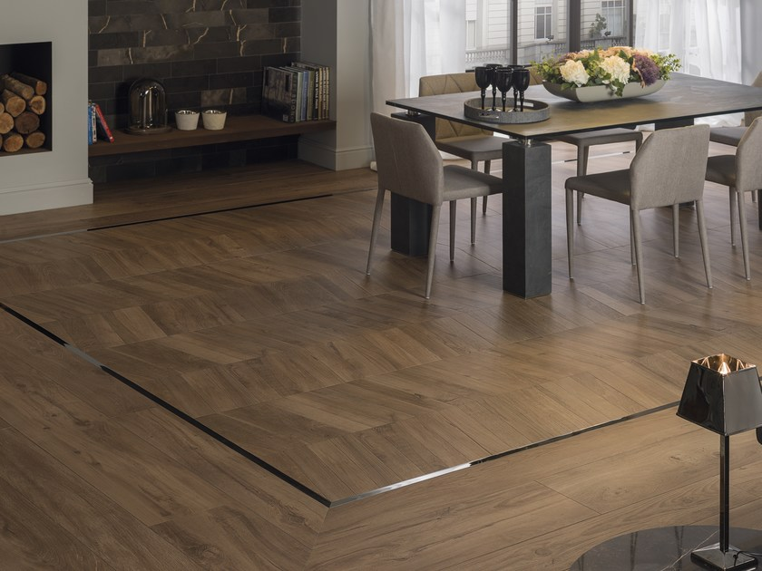 Porcelain stoneware flooring with wood effect ATELIER VIENA by Porcelanosa