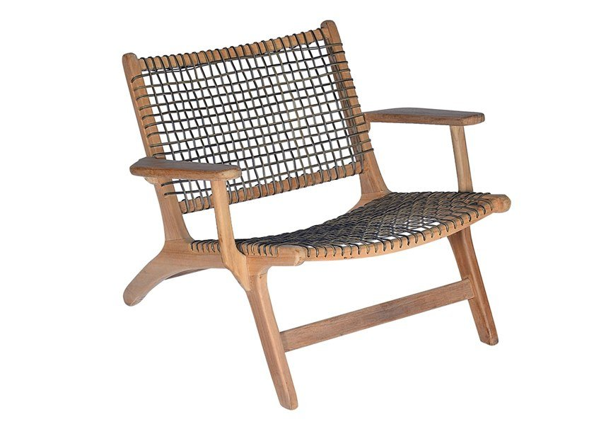 Garden teak and synthetic easy chair VIENNA RELAX ORIGINAL by cbdesign