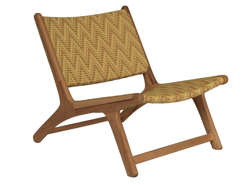 Garden teak and synthetic easy chair VIENNA RELAX BATIK by cbdesign