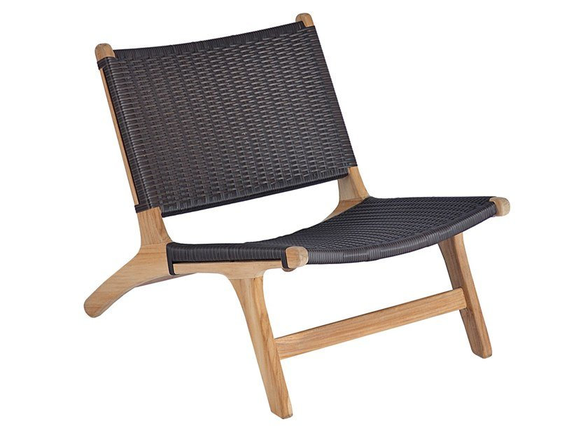 Garden teak and synthetic easy chair VIENNA RELAX NATURAL by cbdesign