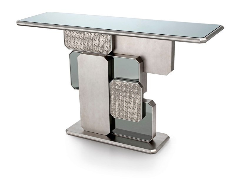Rectangular mirrored glass console table VIENNA by Sicis