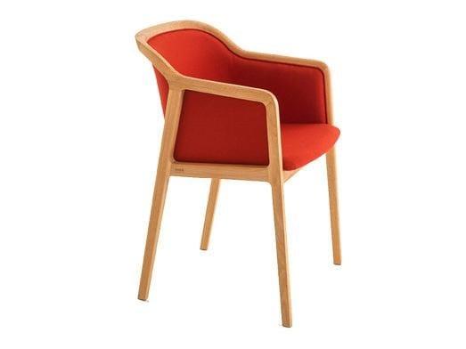 Sedia imbottita in tessuto con braccioli VIENNA SOFT | Sedia con braccioli by Colé Italia