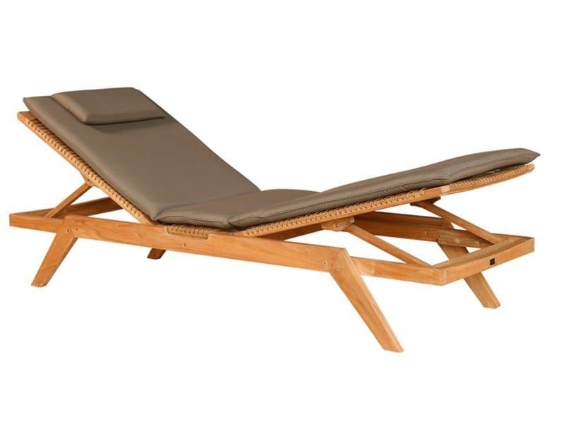 Recliner teak sun lounger VIENNA | Sun lounger by cbdesign