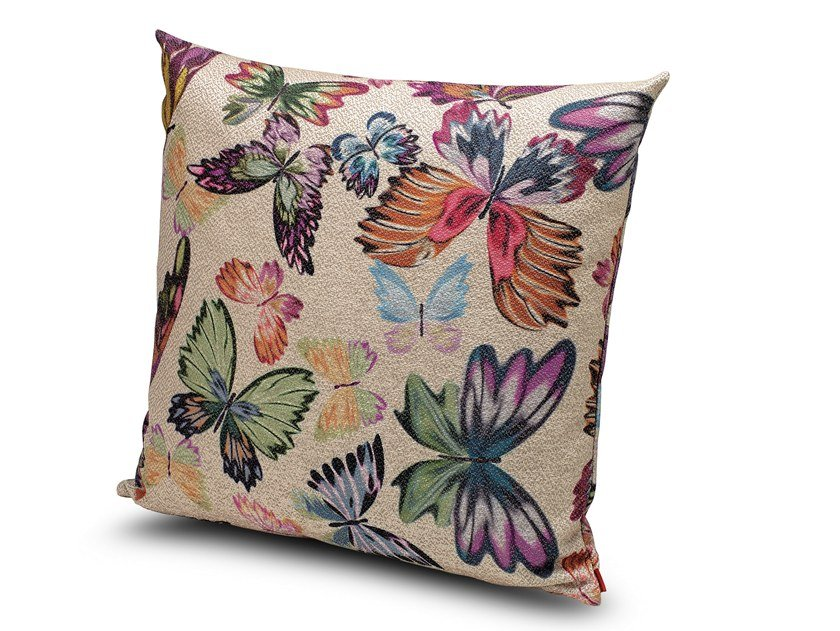 Motif fabric cushion VIENTIANE by MissoniHome