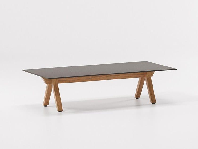 Rectangular aluminium coffee table VIEQUES | Rectangular coffee table by KETTAL
