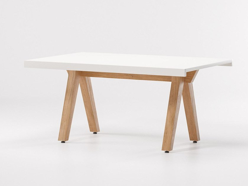 Rectangular aluminium table VIEQUES | Rectangular table by KETTAL